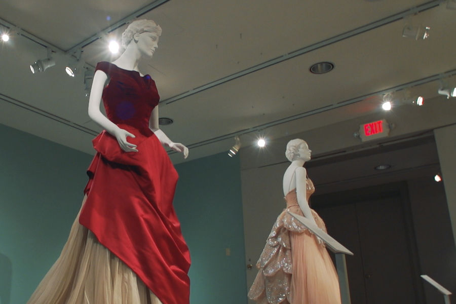 Pictured are clothing on display as part of the Kent State University Museum
