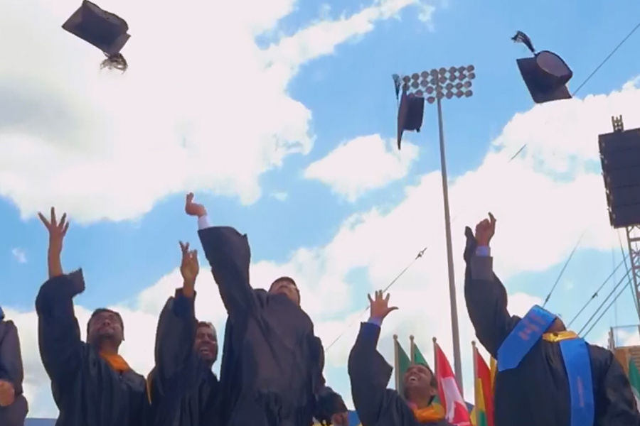 Kent State University graduates celebrate at Commencement.