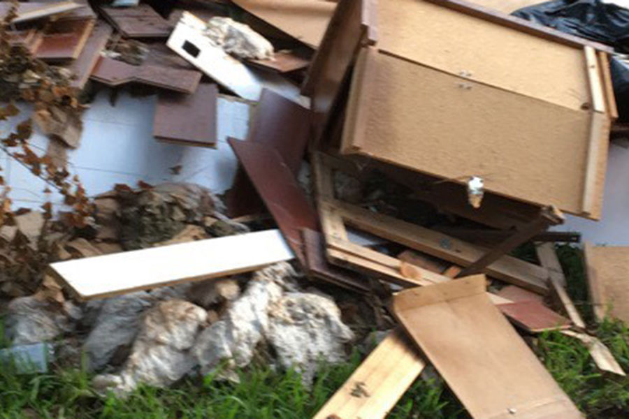 Hurricane Harvey caused damage to the home of Kent State student Alexis Bartee's grandparents.