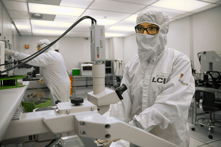 Student in labcoat
