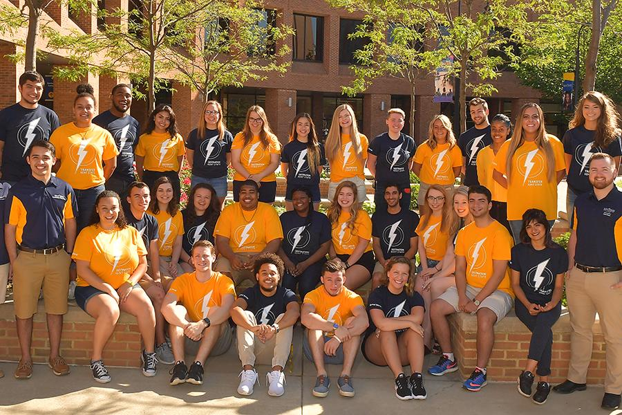 This year's class of 24 Flashguides is a diverse and fun-loving group of students who participate in the program because they want to make a difference in the lives of new students.