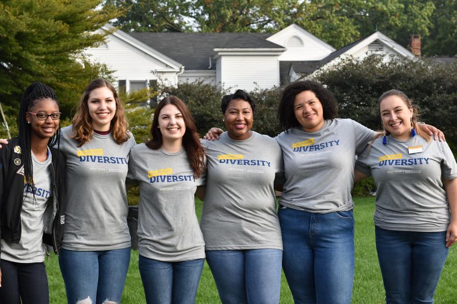 Women's Center participants pose for a photo