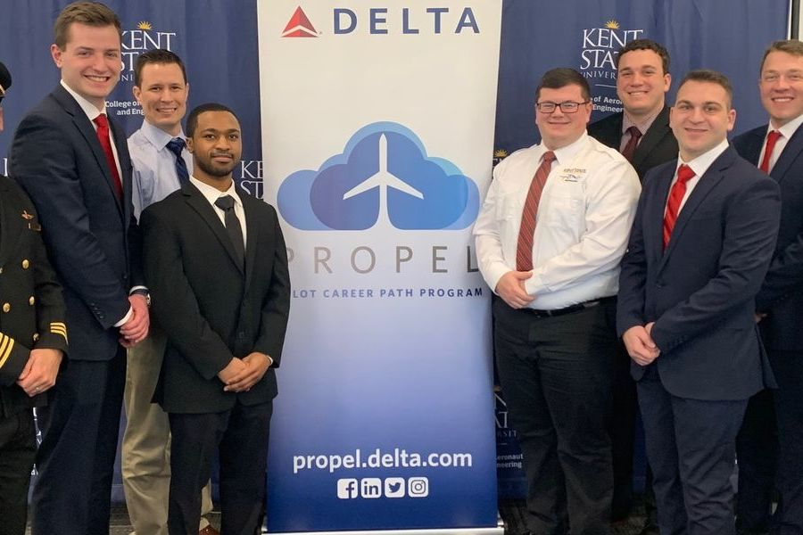 Students with Delta Airlines.