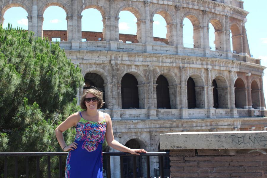 Ruby Callen in Rome