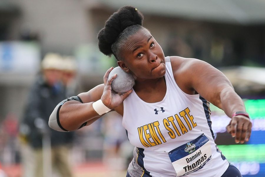National Champion! Kent State's Danniel Thomas captures NCAA Division I Women's Shot Put Crown