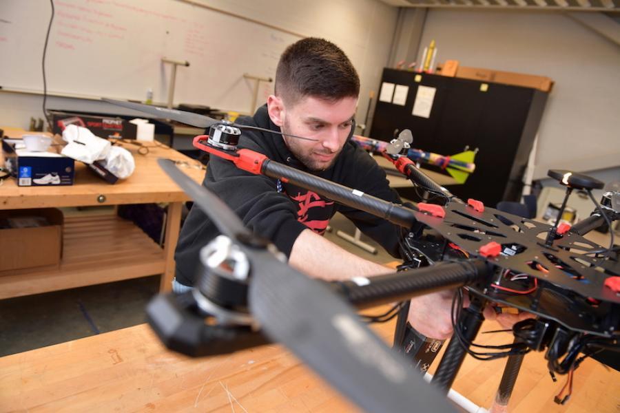 UAV Male Student