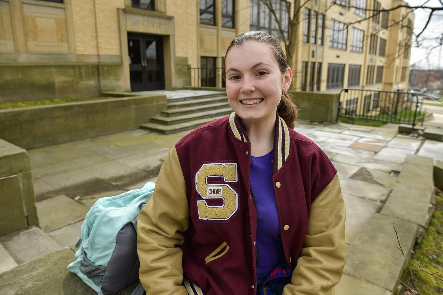 Megan Schinker, a senior at Stow-Munroe Falls High School, participated in the College Credit Plus Science Experience Internship Program at Kent State University's Department of Geology.