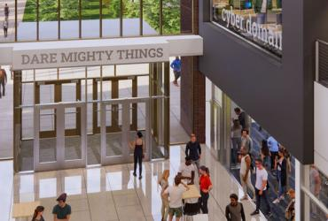 Photo of new building rendering
