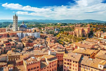 Aerial photo of Siena