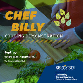 Chef Billy Cooking Demonstration Sept. 27