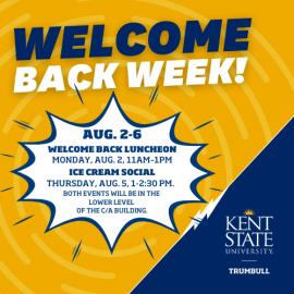 Welcome Back Week