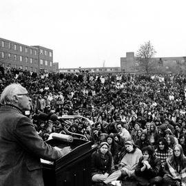 A speech is given on May 4, 1972