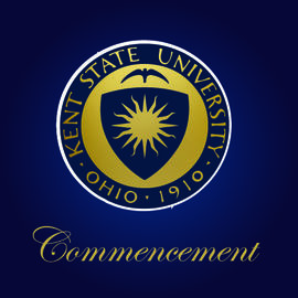 University Seal on Blue Background for Commencement