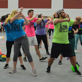 Participants from the 2017 Flashathon tear it up on the dance floor.