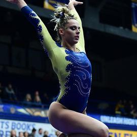 Gymnast on the balance beam