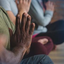 Hands meditating