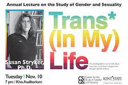 Susan Stryker to Speak at Kent State.