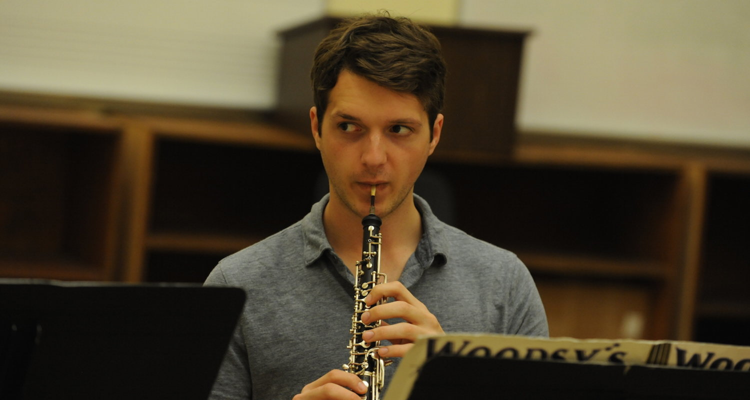 Oboe student during a KBMF chamber music coaching