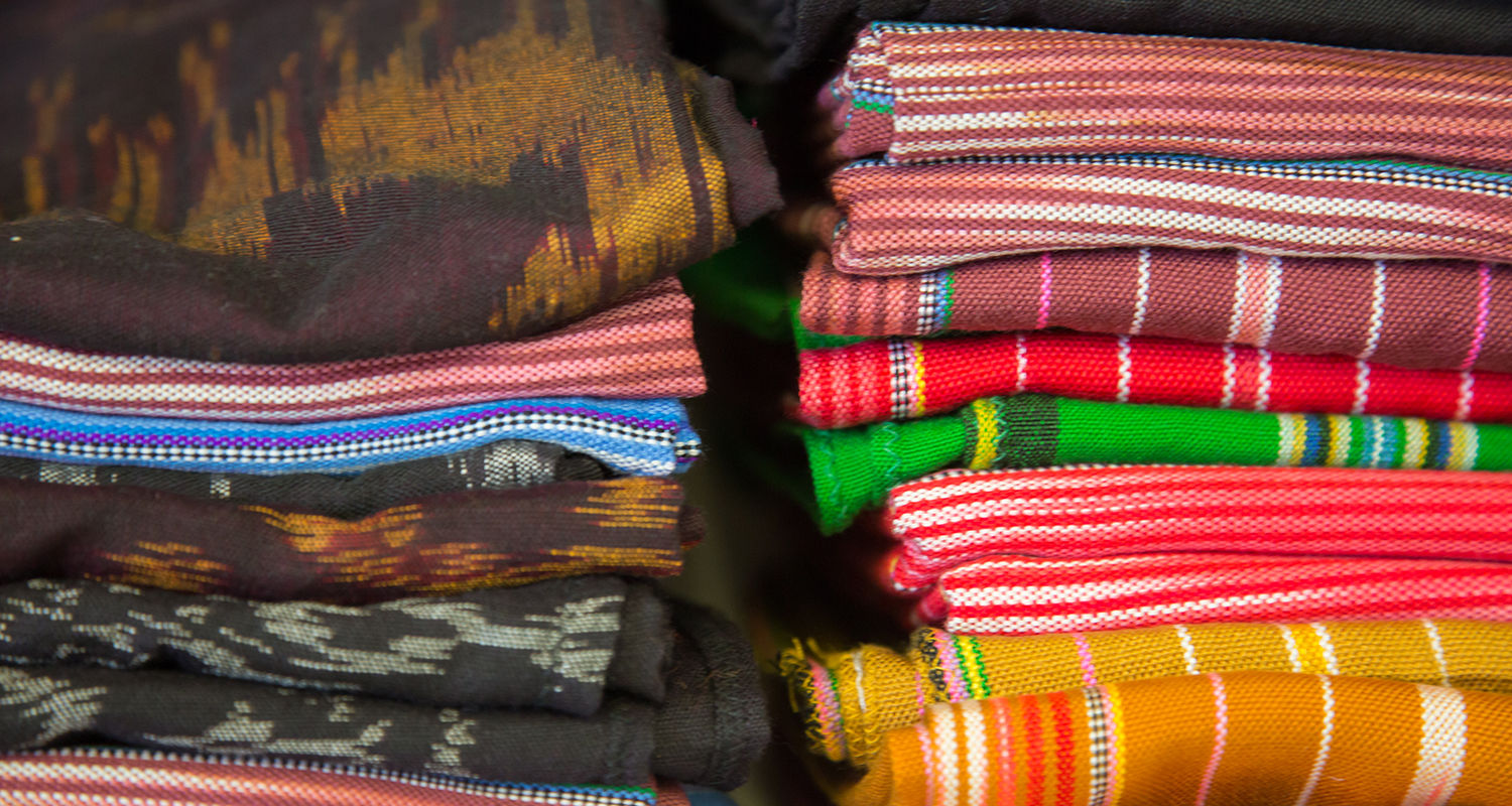 Fabrics used in Neighbors Apparel products are hand-woven in Thailand.