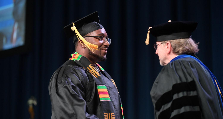 Male student Karamu graduation 2017