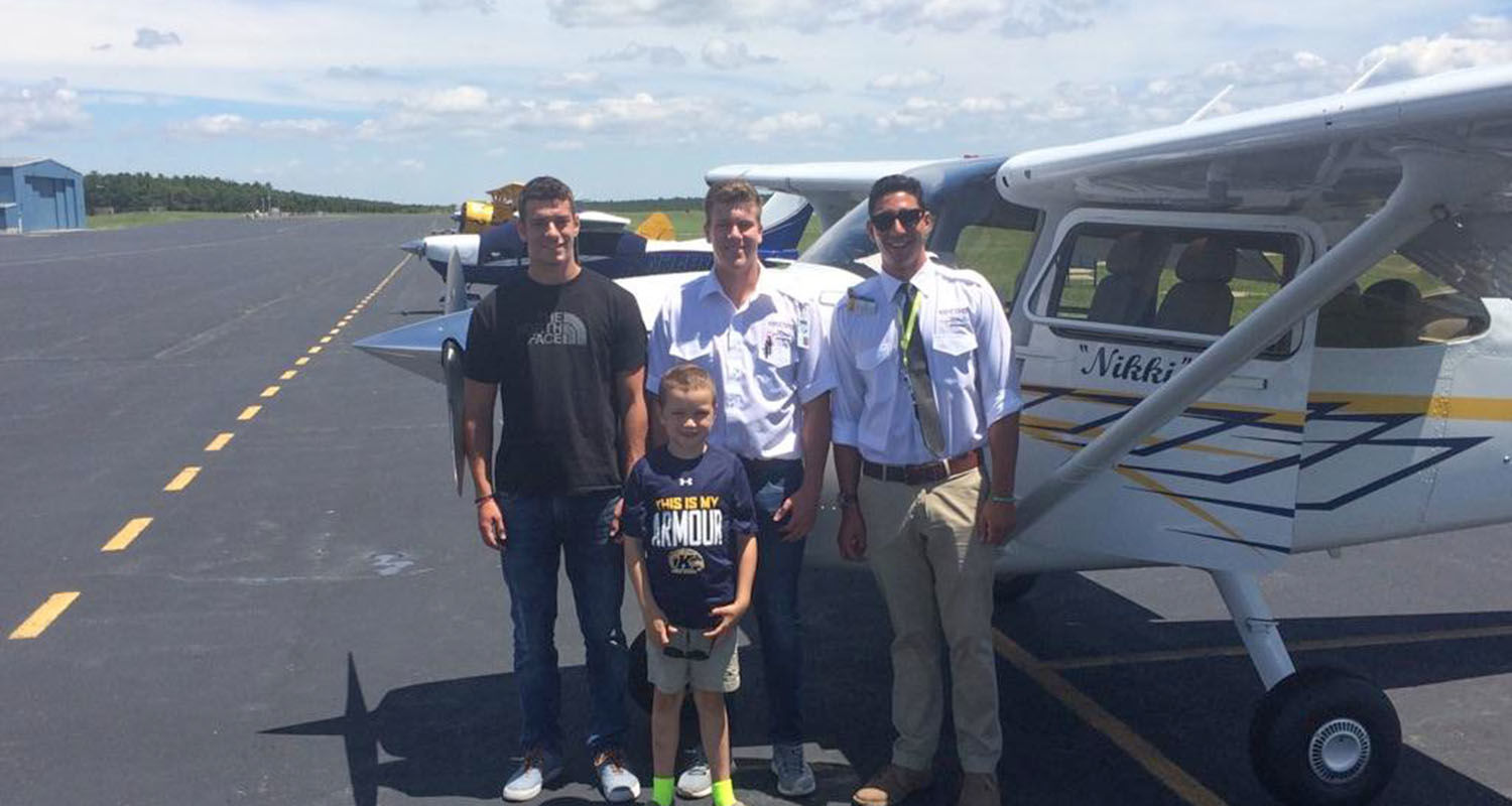 Six-year-old Matthew Dougard was about to soar higher than his childhood imagination could have ever taken him, thanks to Kent State University's Aeronautics Program.