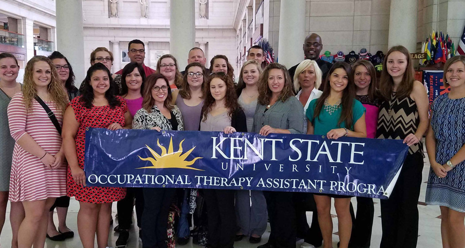 Kent State University at East Liverpool students from the Occupational Therapy Assistant Program attended Hill Day in Washington, D.C.