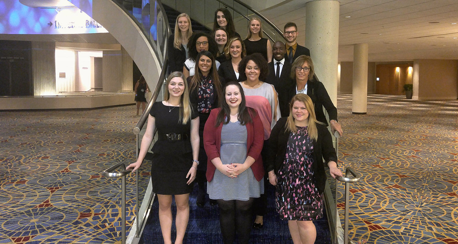 Thirteen Kent State public relations majors traveled to Atlanta in October 2015 for the Public Relations Student Society of America National Conference.