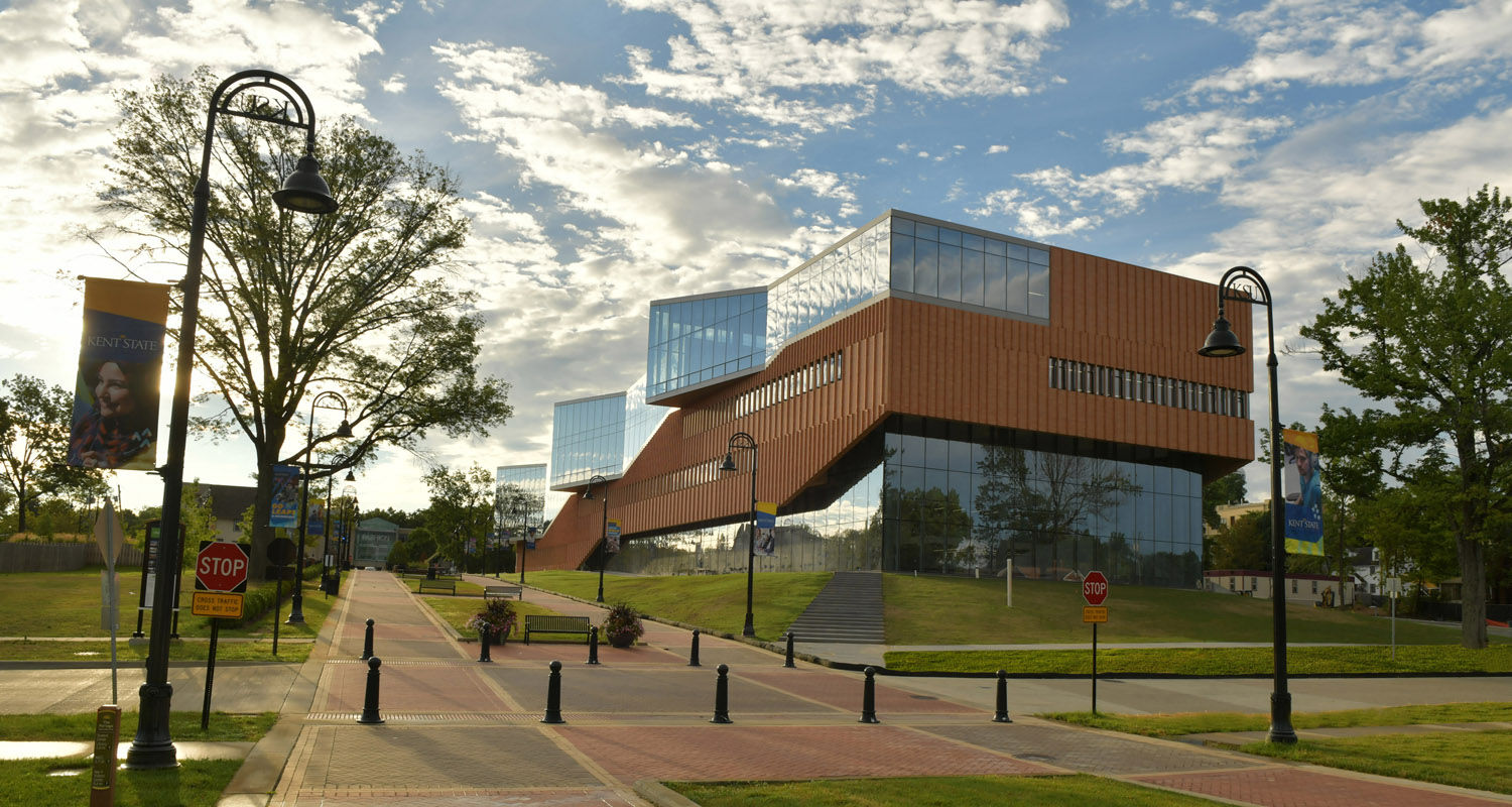 Kent state celebrates grand opening of the new center for for Office design kent