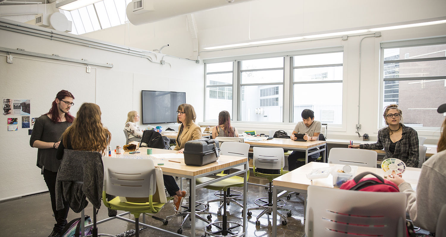 Updated classrooms in the Center for Visual Arts