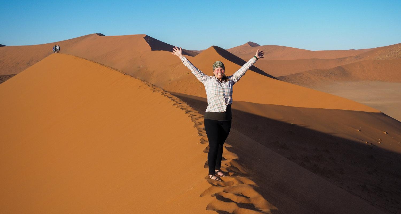 Amanda in Namibia