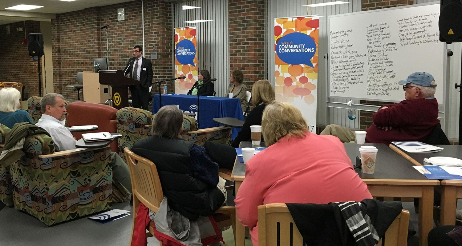 WKSU Community Conversation at a Kent State campus