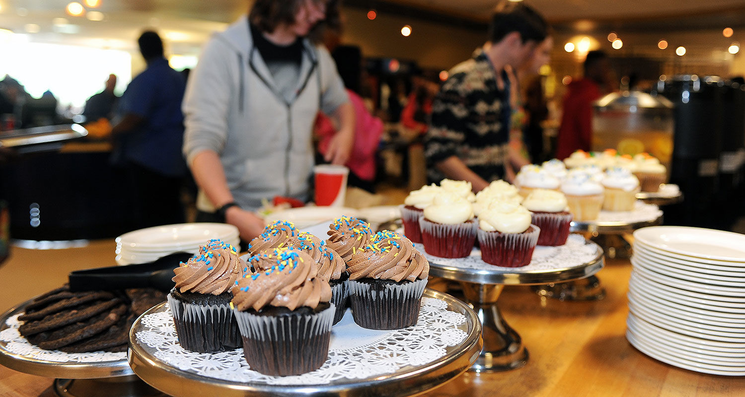 Cupcakes and other desserts await Kent State students eating at Eastway Center.