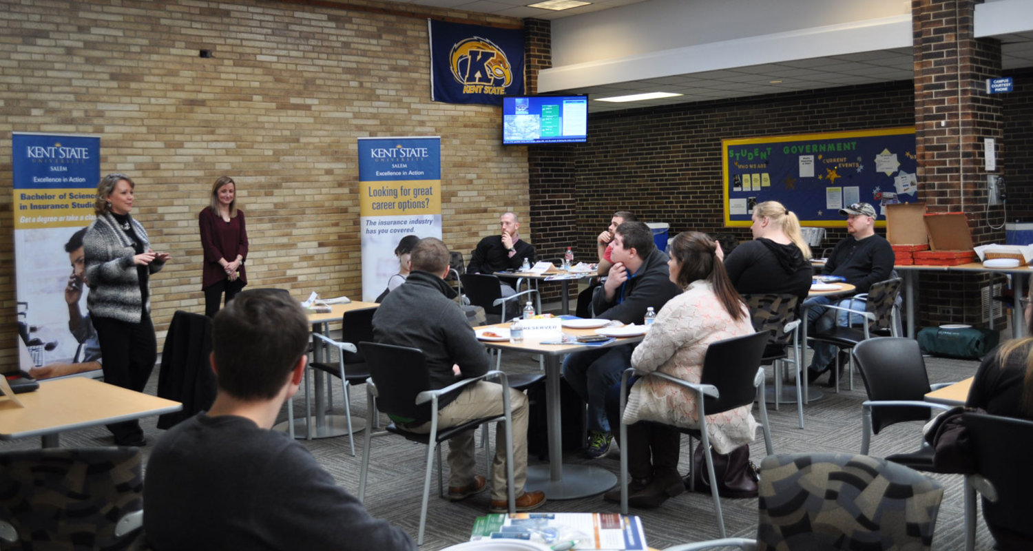 A luncheon was recently held for business students to learn more about the growing Insurance Industry.