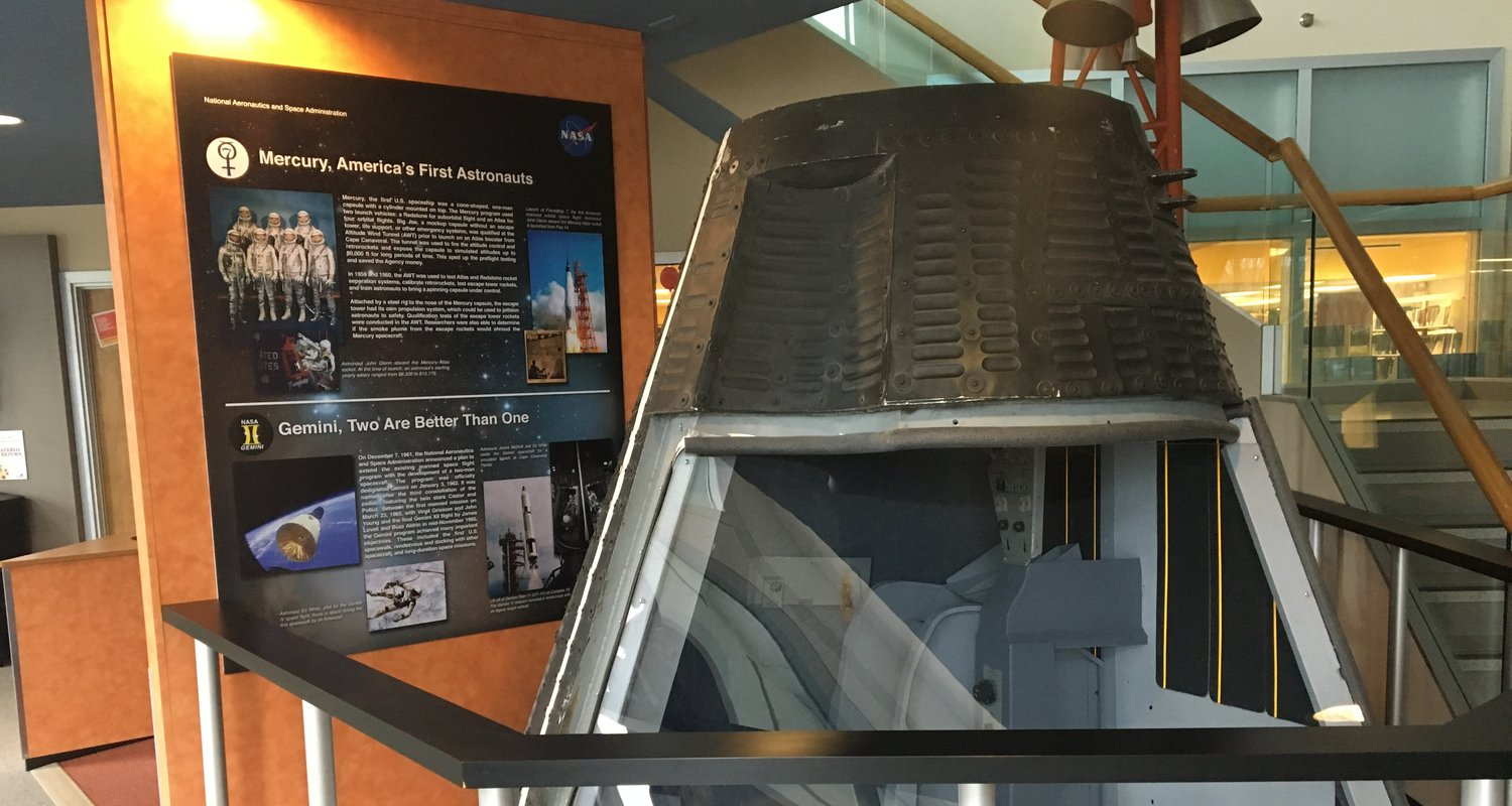 Space capsule at NASA research library