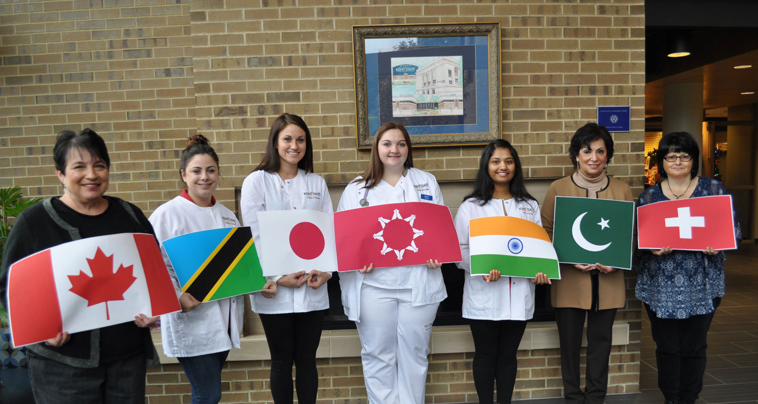 Getting ready for International Day on the Kent State Salem Campus
