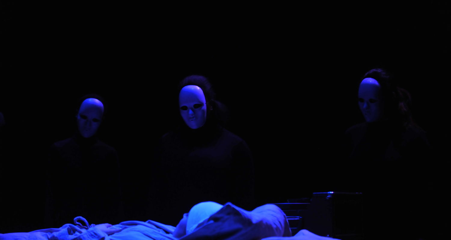 """Students perform in the Black Box Series production of """"The Tell Tale Heart"""""""