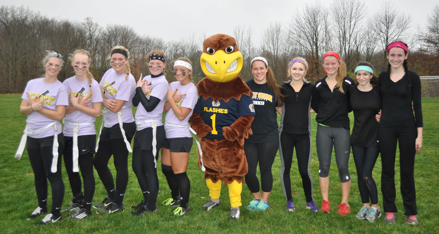 First-ever PowderPuff football tournament at Kent State Salem