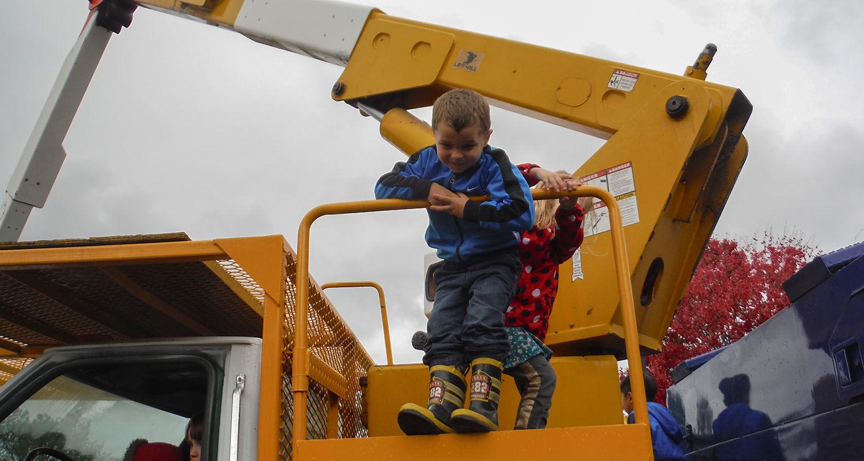 Kent State's University Facilities Management Hosts Third Meet the Trucks Event for Child Development Center