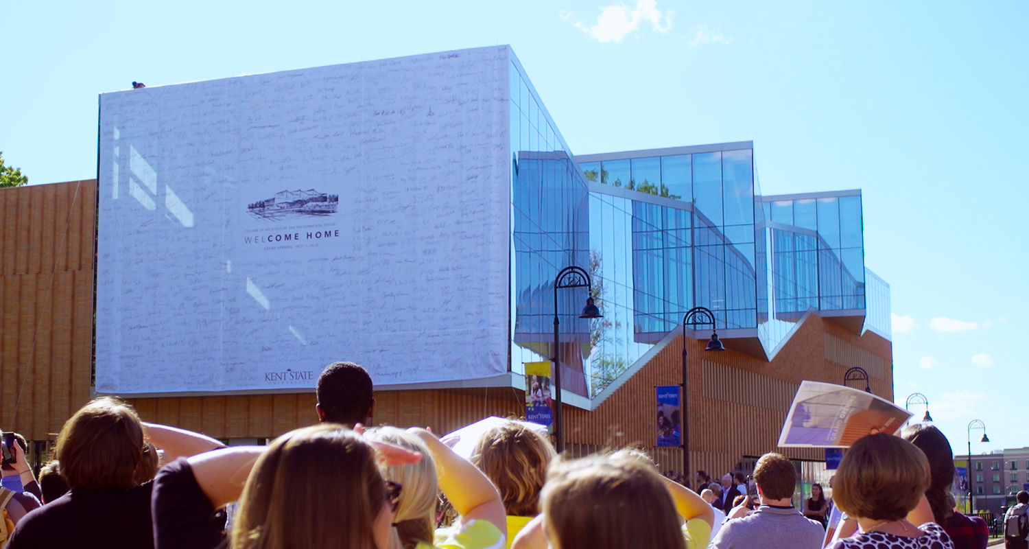 Kent State University celebrated the grand opening of its newest and much-anticipated building, the Center for Architecture and Environmental Design, on Oct. 7.