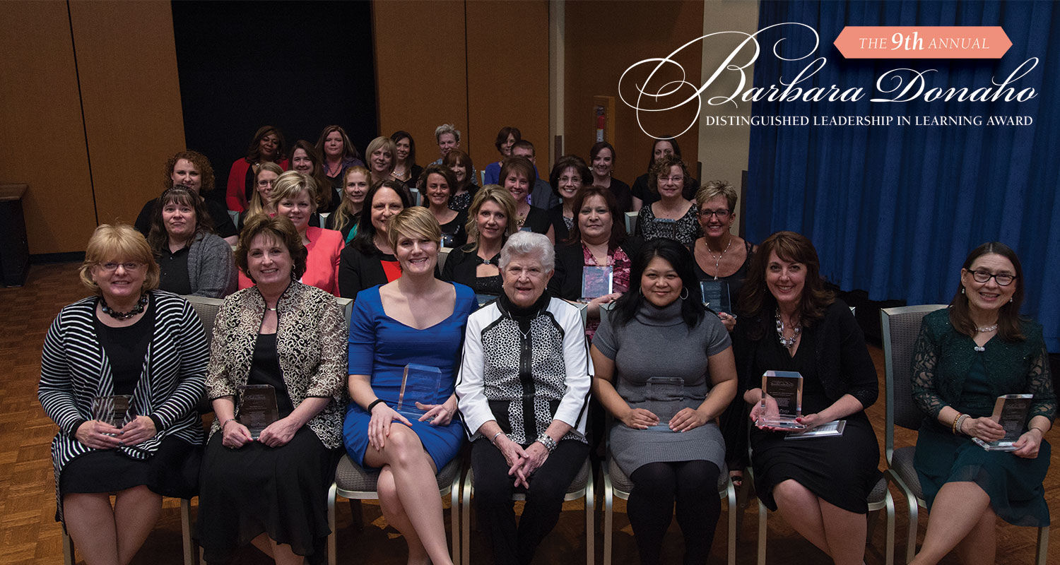 Recipients of the 2015 Barbara Donaho Distinguished Leadership in Learning Award