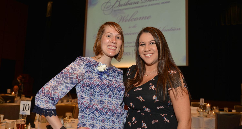 2016 Donaho Award Recipient Julie Reynolds (left)