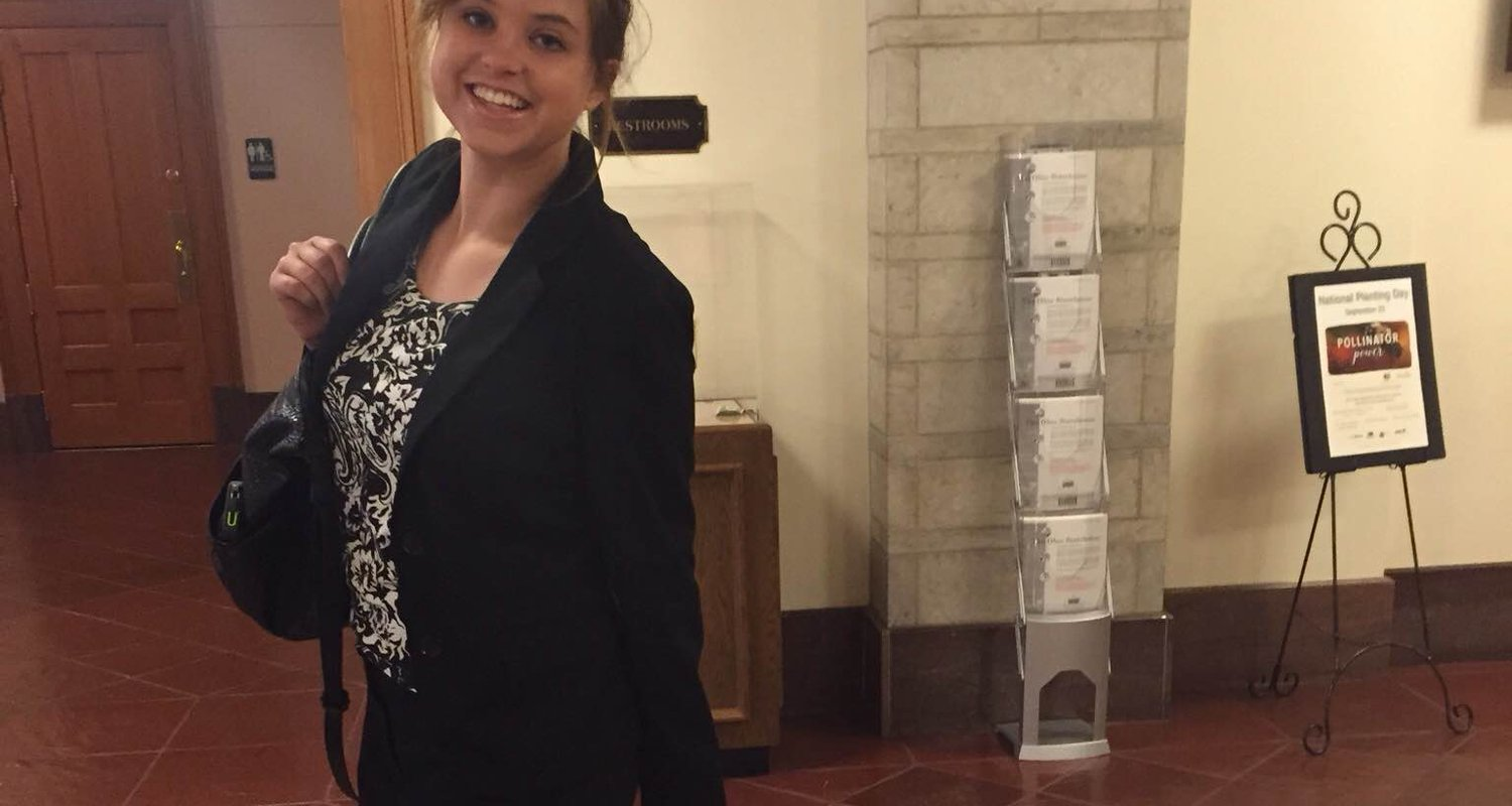 Ellen Turk spent her fall 2016 semester studying with the Columbus Program in State Issues