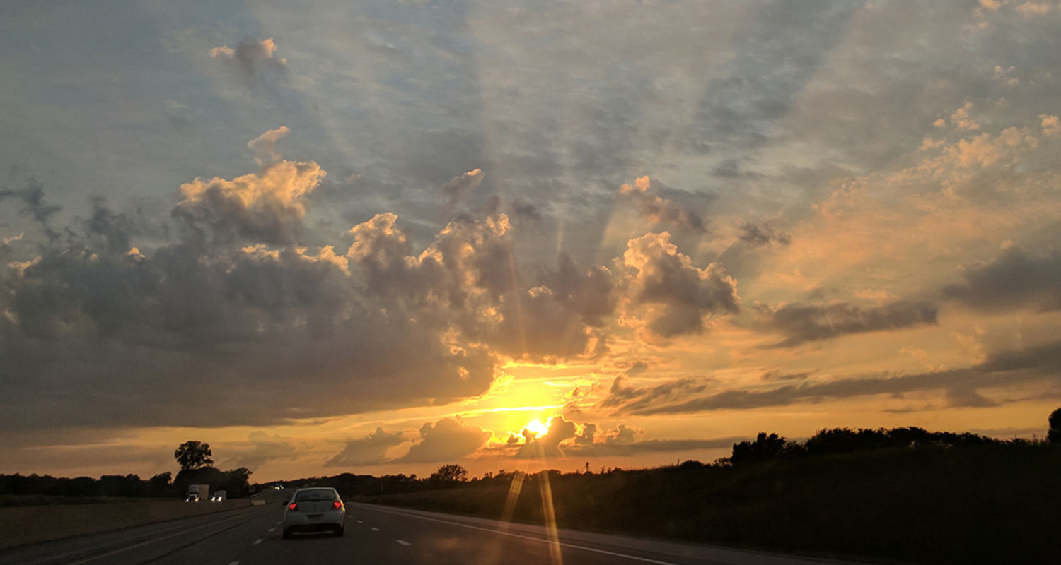 Josiah Murphy, secretary, Department of Modern and Classical Language Studies, sent this photo during a road trip on Route 80.
