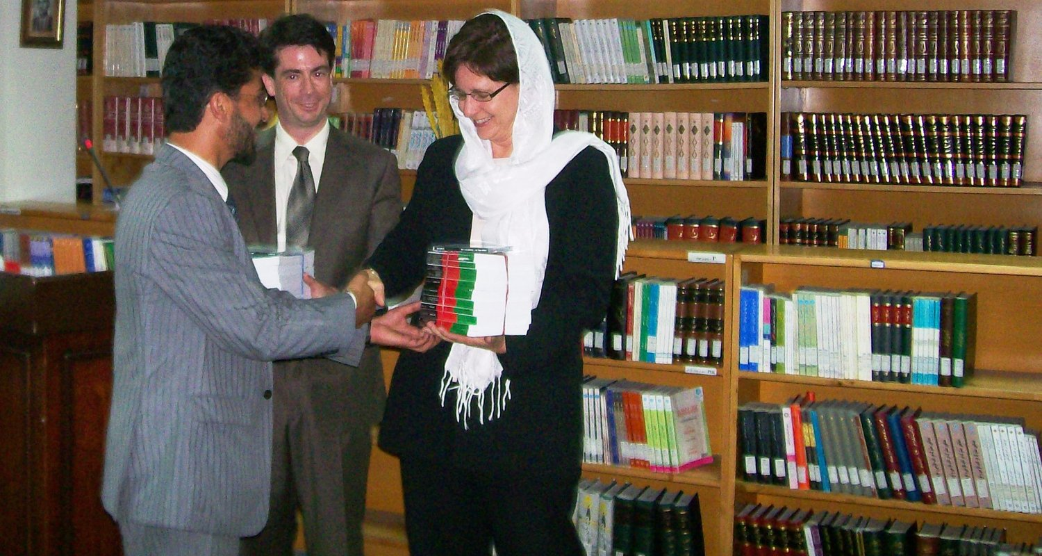 Andrea Muto in Afghanistan Law Library