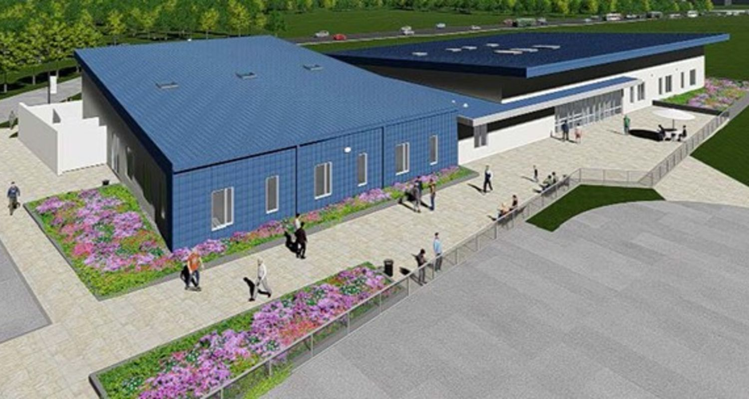 image proposed Airport Academic Building aerial view