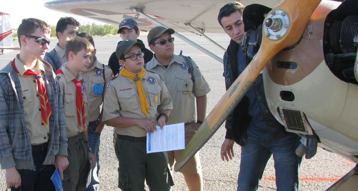 photo Boy Scouts at Youth Aviation Adventure