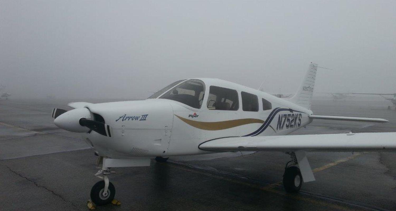 photo aircraft Arrow III with fog