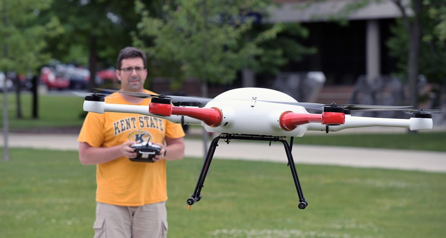 photo unmanned aircraft Dr. Stringer flying Phoenix X6E Hexcopter drone