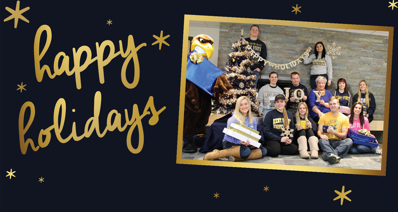 Dean Stocker and Kent State Ashtabula students wish you a happy holiday season