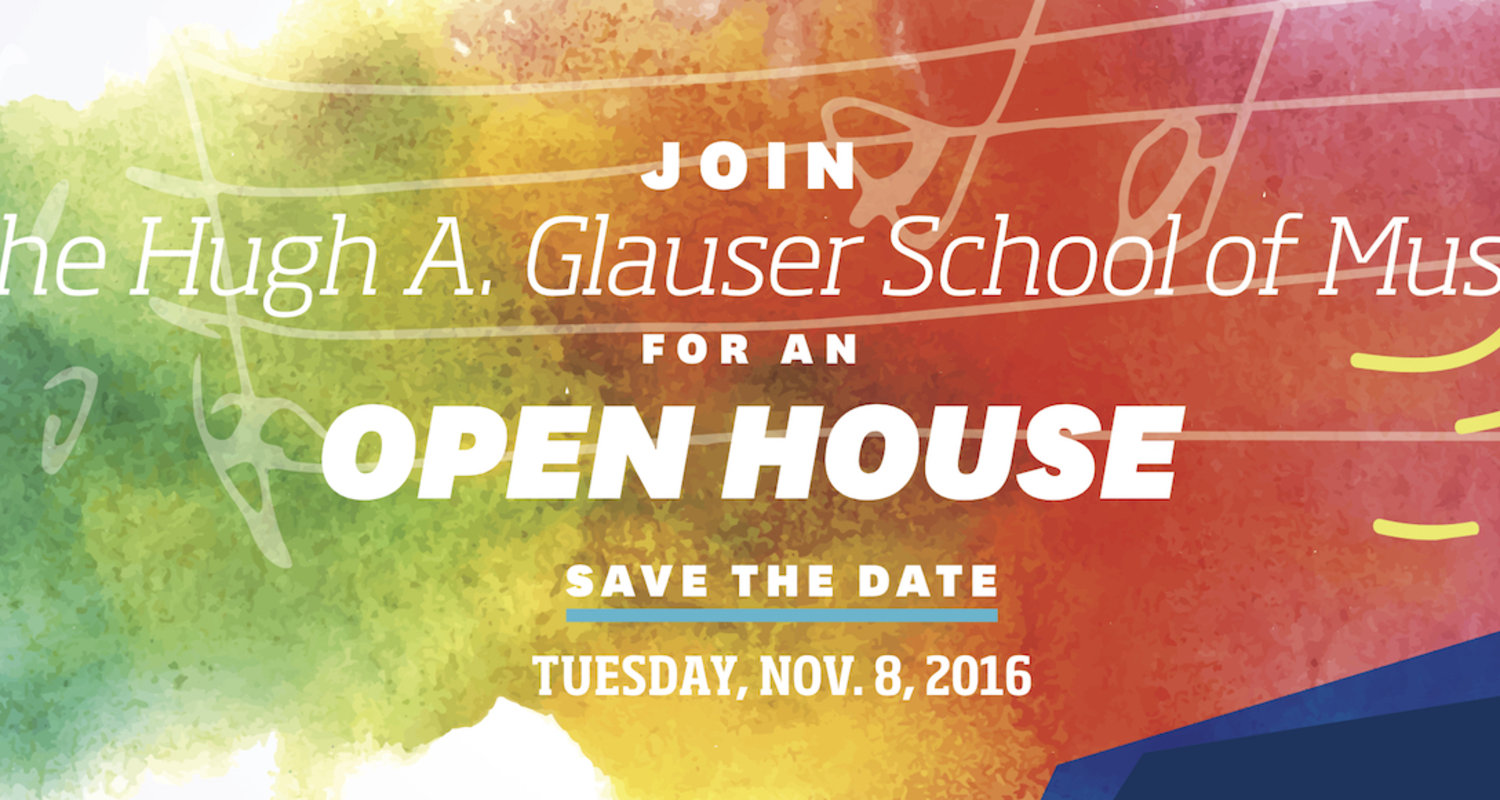 2016 School of Music Open House Save the Date